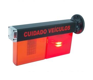 D251 PLUS - Sinalizador LED Pisca com Buzzer Liga e Desliga a Noite.
