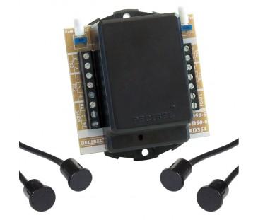 D50-6 Sensor De Barreira Para Embutir, Feixe Duplo, Digital e Microcontrolado.