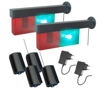 D252 RF - Semáforo Automático Para Entrada e Saída de Veículos. (SEM FIO). Kit