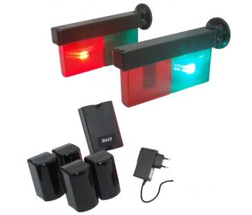 D257 - Semáforo Automático Para Entrada e Saída de Veículos (COM FIO). Kit