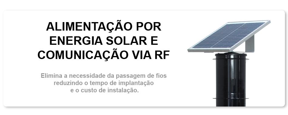 energia solar barreira i.v.a. sem fio