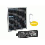 Kit Painel Solar Fotovoltaico E Controlador De Carga