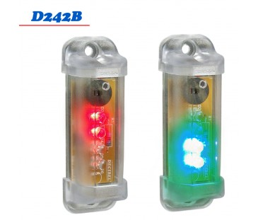 D242B - Mini Sinalizador 2 Cores 12 VDC com Buzzer