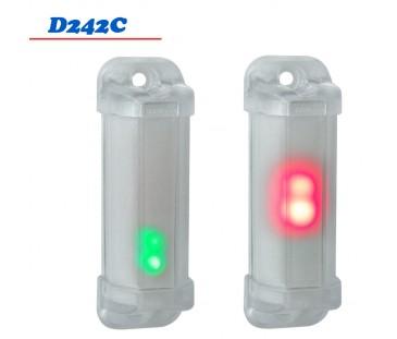D242C - Mini Sinalizador 2 Cores 12 VDC