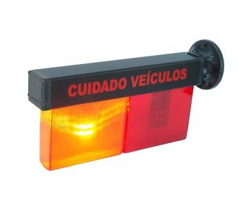D251 - Sinalizador LED Pisca Pisca com Buzzer - Lei N°16.809